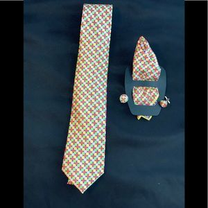 Other - Men's Tie Cufflinks, Pocket Square Colorful